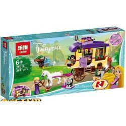 Lepin 25018 Sheng Yuan 1161 SY1161 Bela 11057 Disney Princess 41157 Rapunzel's Travelling Caravan Xếp hình Chuyến Đi Của Công Chúa Tóc Mây 323 khối
