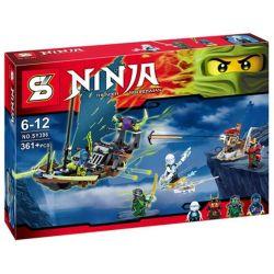 Sheng Yuan 396 SY396 (NOT Lego Ninjago Movie City Of Stiix ) Xếp hình Thuyền Bay 1069 khối