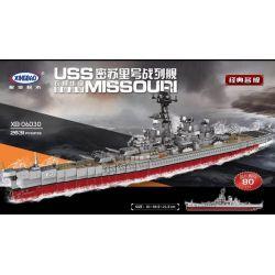 Xingbao XB-06030 Military Army Uss Missouri (Bb-63) Xếp hình Tàu Chiến 2631 khối