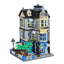 Wange 6310 Modular Buildings Garden Coffee House Xếp hình Quán Cafe 2313 khối