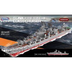 Xingbao XB-06029 Military Army Slava Class Cruiser Xếp hình Tàu Chiến 1772 khối