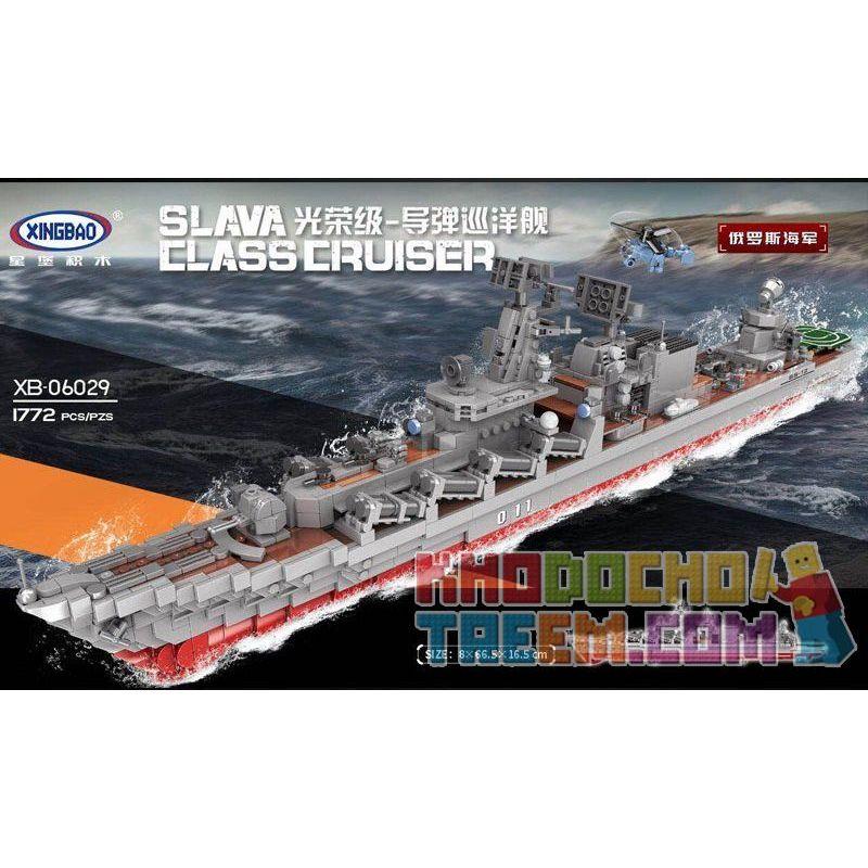 Xingbao XB-06029 (NOT Lego Military Army Warship ) Xếp hình Tàu Chiến 1772 khối