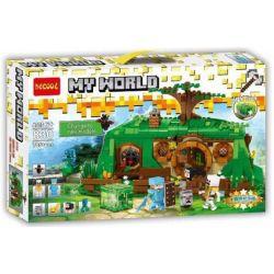 Decool 830 Minecraft 79003 An Unexpected Gathering Xếp hình Ngôi Nhà Trong Rừng 652 khối