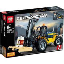 Lepin 20082 Decool 3379 Technic 42079 Forklift Truck Xếp hình Xe Nâng Hạng Nặng 592 khối