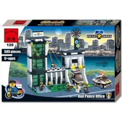 Enlighten 129 (NOT Lego SWAT Special Force 7035 Police Hq ) Xếp hình Trung Tâm Cảnh Sát 422 khối