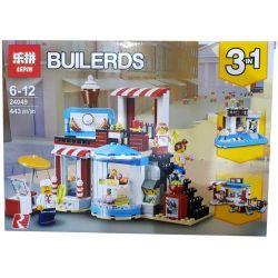 Lepin 24049 Lele 33221 Bela 11052 Creator 3 in 1 31077 Modular Sweet Surprises Xếp hình Cửa Hàng Bánh Kẹo lắp được 3 mẫu 396 khối