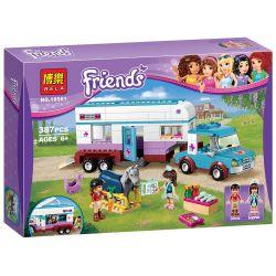 Bela 10561 Friends 41125 Horse Vet Trailer Xếp Hình Trại Huấn Luyện Ngựa 370 Khối