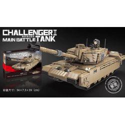Xingbao XB-06033 Military Army Challenger Ii Main Battle Tank Xếp hình Xe Tăng Chiến Đấu Quân Sự Ii 1441 khối