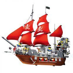 Wange 53041 Pirates of the Caribbean Blackbeard Pirate Xếp hình Hải Tặc Râu Đen 1123 khối