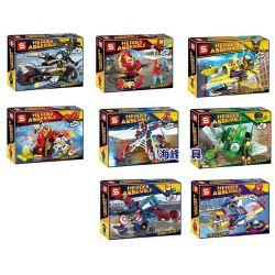 Sheng Yuan SY774 Super Heroes Marvel Heroes 8 In 1 Xếp hình Bộ 8 Siêu Anh Hùng 1088 khối