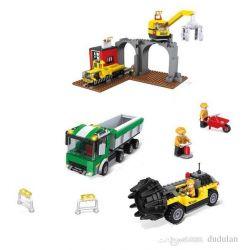Hsanhe 6606 City Construction Machines: Drilling Machine,crane, Dump Truck Xếp hình Máy Công Trình: Cần Cẩu, Xe Ben, Máy Khoan Hầm 677 khối