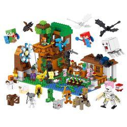 Lele 33163 Minecraft People's Pets Scene Barrel Xếp hình Hộp Chế Tạo Các Vật Nuôi 1007 khối