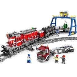 Gao Bo Le Gbl KY98219 (NOT Lego Rail Train Dongfeng Diesel Locomotive Df5 ) Xếp hình Tàu Hỏa Có Ray Với Động Cơ Pin 1002 khối