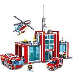 Gao Bo Le Gbl KY98214 City Fire Station Xếp hình Trạm Cứu Hỏa 975 khối