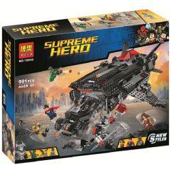 Bela 10846 DC Comics Super Heroes 76087 Flying Fox: Batmobile Airlift Attack Xếp hình Trận Chiến Của Tàu Không Vận 955 khối