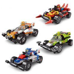 Le Di Pin K 15111 (NOT Lego Speed Champions 4 Racing Cars ) Xếp hình 4 Xe Đua 464 khối
