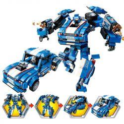 Enlighten 3303 Robot Blast Ranger:Storm Xếp Hình Người Máy Cảnh Sát Biến Hình Storm 823 Khối