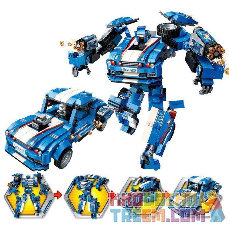 Enlighten 3303 Transformers Blast Ranger:storm Xếp hình Người Máy Cảnh Sát Biến Hình Storm 823 khối