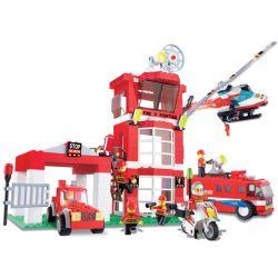 Wange 34021 Fire Rescue Firefighters On Duty Xếp hình Lính Cứu Hỏa Làm Nhiệm Vụ 638 khối