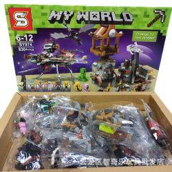 Sheng Yuan SY974 Minecraft My World Xếp hình Cuộc Xâm Lược Tarantula 830 khối