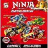 Sheng Yuan 7033 SY7033 Ninjago Movie Ninja:Ninja Master Xếp Hình 4 Siêu Chiến Xa Của Ninja 581 Khối