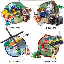Panlosbrick 662004 (NOT Lego City ) Xếp hình 4 Bộ Xếp Hình Thám Hiểm Nhỏ gồm 4 hộp nhỏ 625 khối
