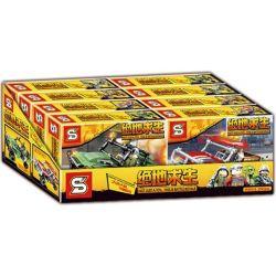 Sheng Yuan 1039 (NOT Lego Battle Royale ) Xếp hình 4 Xe Ô Tô Chiến Đấu gồm 4 hộp nhỏ 579 khối