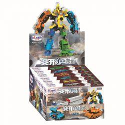 Winner Jemlou 8024 Transformers Xếp hình 6 Phương Tiện Kết Hợp Thành Siêu Robot Teken 573 khối
