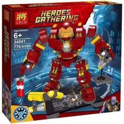 Lele 34041 Super Heroes Iron Man Mk44 Xếp hình Người Sắt Mk44 776 khối