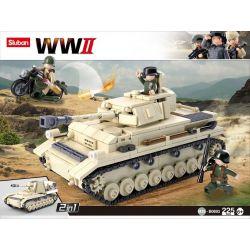 Sluban M38-B0693 Cars Panzer IV Xếp Hình Xe Tăng Trong Thế Chiến Thứ 2 543 Khối