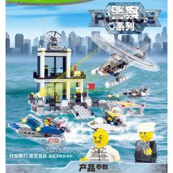 Kazi Gao Bo Le GBL Bozhi KY6726 City Police Xếp Hình Căn Cứ Trên Biển Của Cảnh Sát 536 Khối