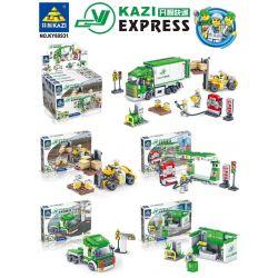 Kazi Gao Bo Le Gbl Bozhi KY60931 (NOT Lego Kazi Express ) Xếp hình Hãng Chuyển Phát Kazi gồm 4 hộp nhỏ lắp được 4 mẫu 526 khối