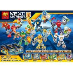 Lele 32027 Nexo Knights NEXO Solders Xếp Hình 6 Chiến Binh NEXO 523 Khối