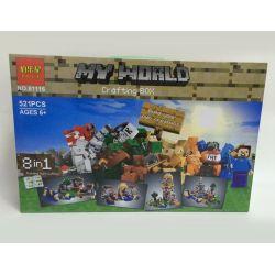 Jie Star 81116 Minecraft 21116 Crafting Box Xếp Hình Hộp Chế Tạo 521 Khối