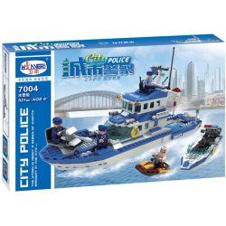 Winner 7004 (NOT Lego City Police ) Xếp hình 城市警察:水警船 521 khối