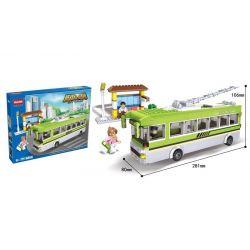 Hsanhe 6856 City School Bus Xếp hình Xe Bus Trường Học 464 khối