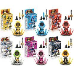 Kazi Gao Bo Le Gbl Bozhi KY8068 (NOT Lego Power Rangers ) Xếp hình Siêu Nhân Kaizhi gồm 6 hộp nhỏ 512 khối