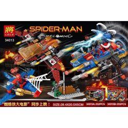 Lele 34013 (NOT Lego Spiderman ) Xếp hình Cuộc Chiến Của Người Nhện gồm 2 hộp nhỏ 507 khối