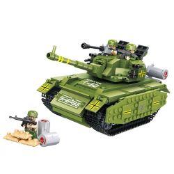 Hsanhe 6459 Tank World T-90 Tank Xếp Hình Xe Tăng T-90 450 Khối