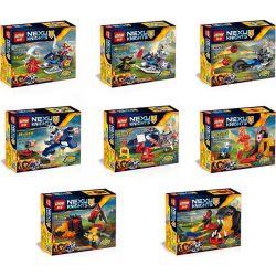 Lepin 03033 (NOT Lego Nexo Knights Nexu Knights ) Xếp hình 8 Chiến Binh Nguyên Tố gồm 8 hộp nhỏ 504 khối