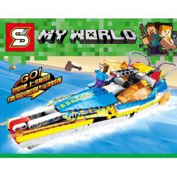 Sheng Yuan 7037 Minecraft High - Speed Boat Racing Xếp Hình Cuộc Đua Tàu Thủy Cao Tốc Trên Biển 391 Khối