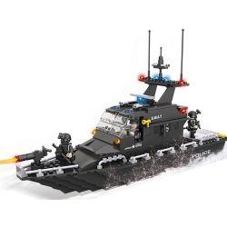 Hsanhe 6511 SWAT Patrol Boat And Helicopter Xếp hình Thuyền Và Trực Thăng Tuần Tra 518 khối