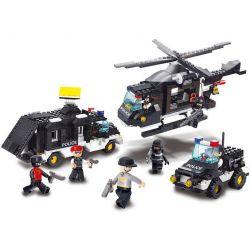 Sluban M38-B2100 (NOT Lego SWAT Special Force ) Xếp hình Đội Cảnh Sát Chống Bom 499 khối