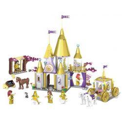 Kazi KY98711 Disney Princess Golden Princess Xếp Hình Lâu đài Bằng Vàng Của Công Chúa 500 Khối