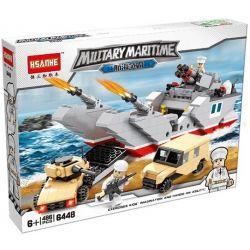 Hsanhe 6448 Military Army Landing Craft Xếp hình Tàu Chiến Đổ Bộ Đất Liền 486 khối