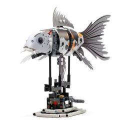 Lepin 20091 Animals 81000 Koi Xếp hình Cá Koi Màu Xám Có Động Cơ Pin 294 khối