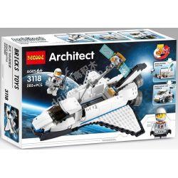 Decool 3118 Creator 3 in 1 31066 Space Shuttle Explorer Xếp hình Hành Trình Khám Phá Của Tàu Con Thoi lắp được 3 mẫu 285 khối