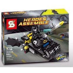 Sheng Yuan SY210B 210B Batman Movie 7886 The Batcycle: Harley Quinn's Hammer Truck Xếp Hình Xe Tải Hammer Của Batman 267 Khối