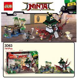 Jlb 3D63 Ninjago Movie Ninja Warriors Xếp hình Cuộc Chiến Của Ninja Với Đền Rồng Hai Đầu 741 khối