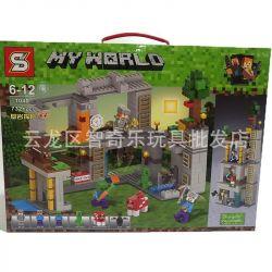 Sheng Yuan 1040 Minecraft My World Xếp hình Cuộc Phiêu Lưu 732 khối